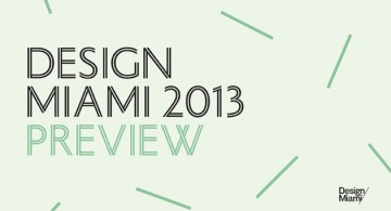 Design Miami/ Event Preview * Contemporary Designers 1 Design Miami preview 360x195