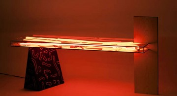 Misha Kahn*Bizarre design trend Misha Kahn Bizarre design trend neon table red light 360x195