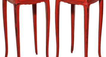 Red Lacquered End Tables * Jean Dunand  Red Lacquered End Tables * Jean Dunand X 360x195