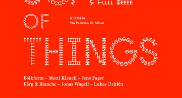 Exhibition in Milan * The Scale of Things INVITATION 360x195