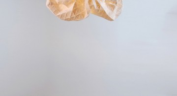 Special Lamps Origami-Inspired Fabric * Mika Barr