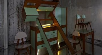 Ettore Sottsass Jr Unpublished Bedroom 1954-1956 Unique Pieces  Erastudio Apartment-Gallery * Unique Galleries Ettore Sottsass Jr Unpublished Bedroom 1954 1956 Unique Pieces 360x195