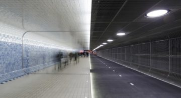 New Bicycle and Pedestrian Tunnel in Amsterdam bicycle and pedestrian tunnel New Bicycle and Pedestrian Tunnel in Amsterdam cuyperspassage feature 360x195