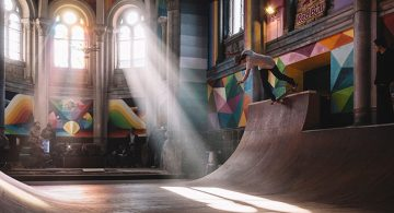 A 100 Year Old Church Transformed into a Skate Park * Okuda San Miguel
