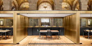 Tech Startup Offices at Historic Bank in Montreal * Henri Cleinge Henri Cleinge Tech Startup Offices at Historic Bank in Montreal * Henri Cleinge henri cleinge crew offices and cafe montreal designboom 01 818x546 360x179