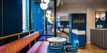 Mid Century Modern Clerkenwell Grind Restaurant in London mid century modern Mid Century Modern Clerkenwell Grind Restaurant in London grind feature 360x179