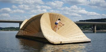 London Based Studio Daewha Kang Created a Floating Pavillion Studio Daewha Kang London Based Studio Daewha Kang Created a Floating Pavillion featured london 360x179
