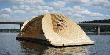 London Based Studio Daewha Kang Created a Floating Pavillion