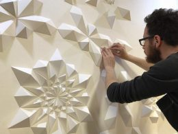Engineer Turns Simple Sheets Of Paper Into Geometric Art geometric art Engineer Turns Simple Sheets Of Paper Into Geometric Art engineer turns simple sheets paper geometric art 22 260x195