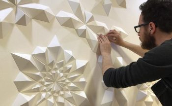 Engineer Turns Simple Sheets Of Paper Into Geometric Art geometric art Engineer Turns Simple Sheets Of Paper Into Geometric Art engineer turns simple sheets paper geometric art 22 350x215
