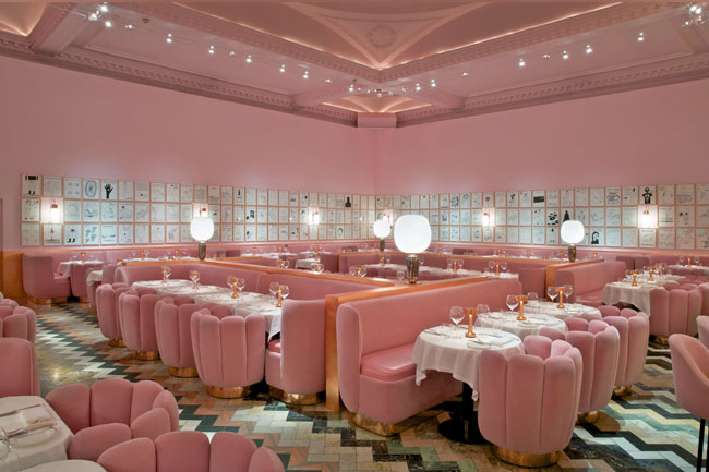 india mahdavi India Mahdavi | A design wonderland india mahdavi the gallery at sketch 2014 restaurant bar architecture design interior scaled 1