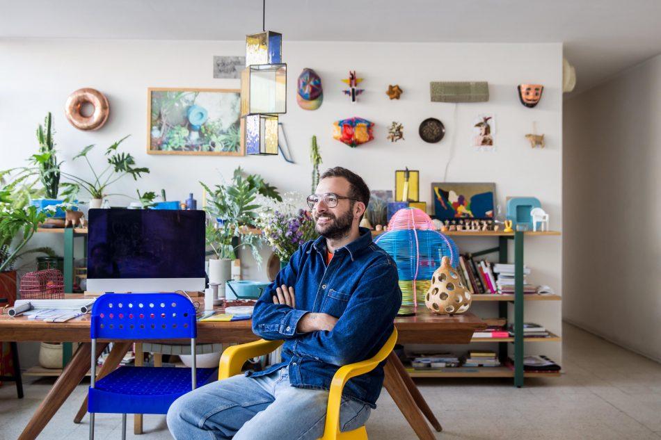 fabien cappello Studio Fabien Cappello – The Playfullness of Colours Fabio studio scaled