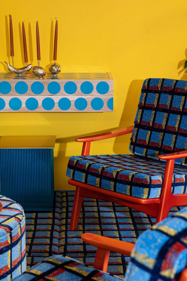 fabien cappello Studio Fabien Cappello – The Playfullness of Colours chair and candles scaled