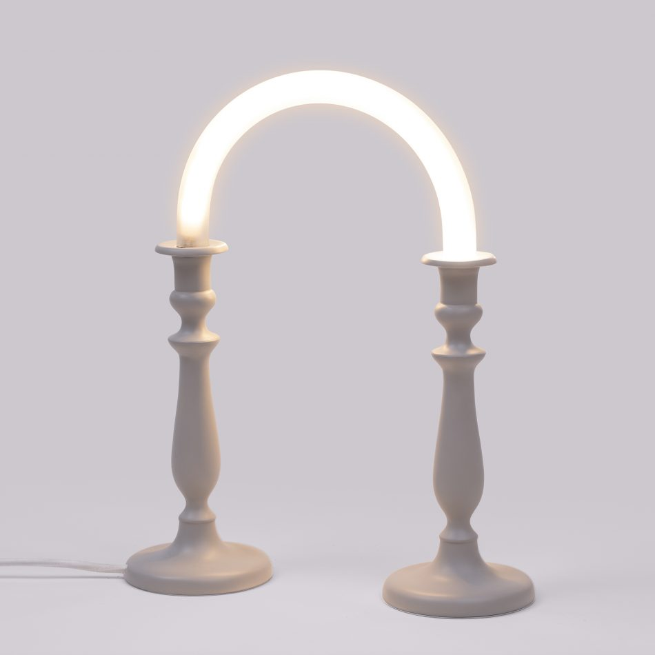 marcantonio Marcantonio   The playful artist lampe a poser candle twin blanc led l31cm h39cm seletti original scaled